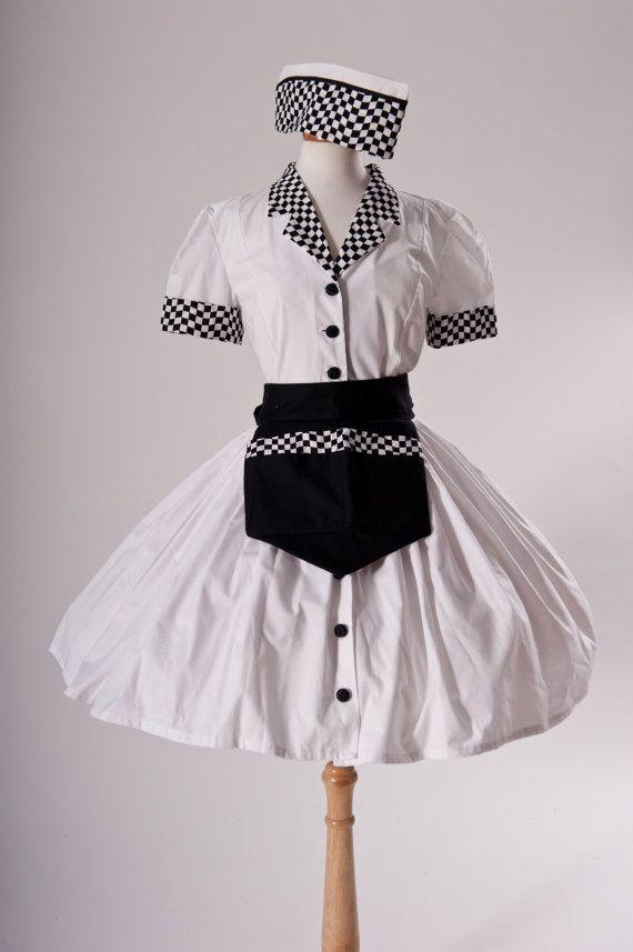 b747d9c52b2c Car Hop Costume Retro 50s Drive In Waitress Dress by MGDclothing, $299.95