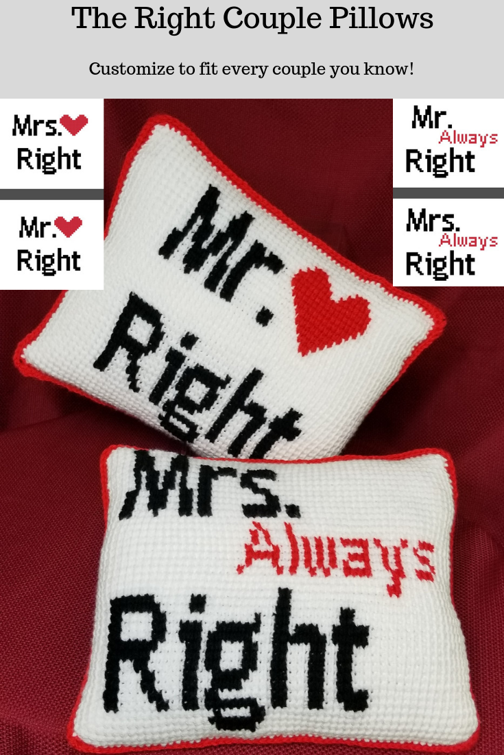 The Quot Right Quot Couple Pillows Free Tunisian Pattern ⋆ Knot