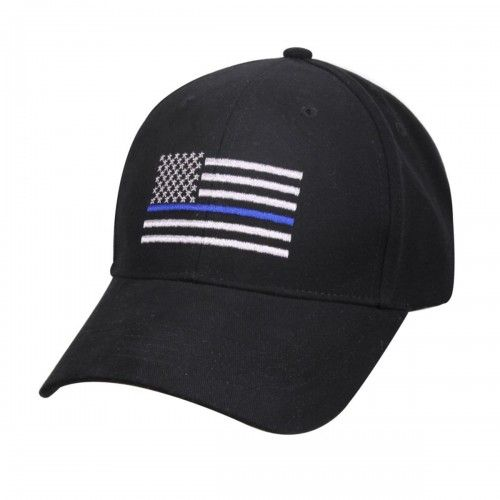 Rothco Thin Blue Line Flag Low Profile Tactical Cap For Police ... fd9e2cd0917