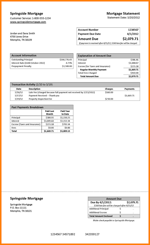 Mortgage Statement Template Word from i.pinimg.com