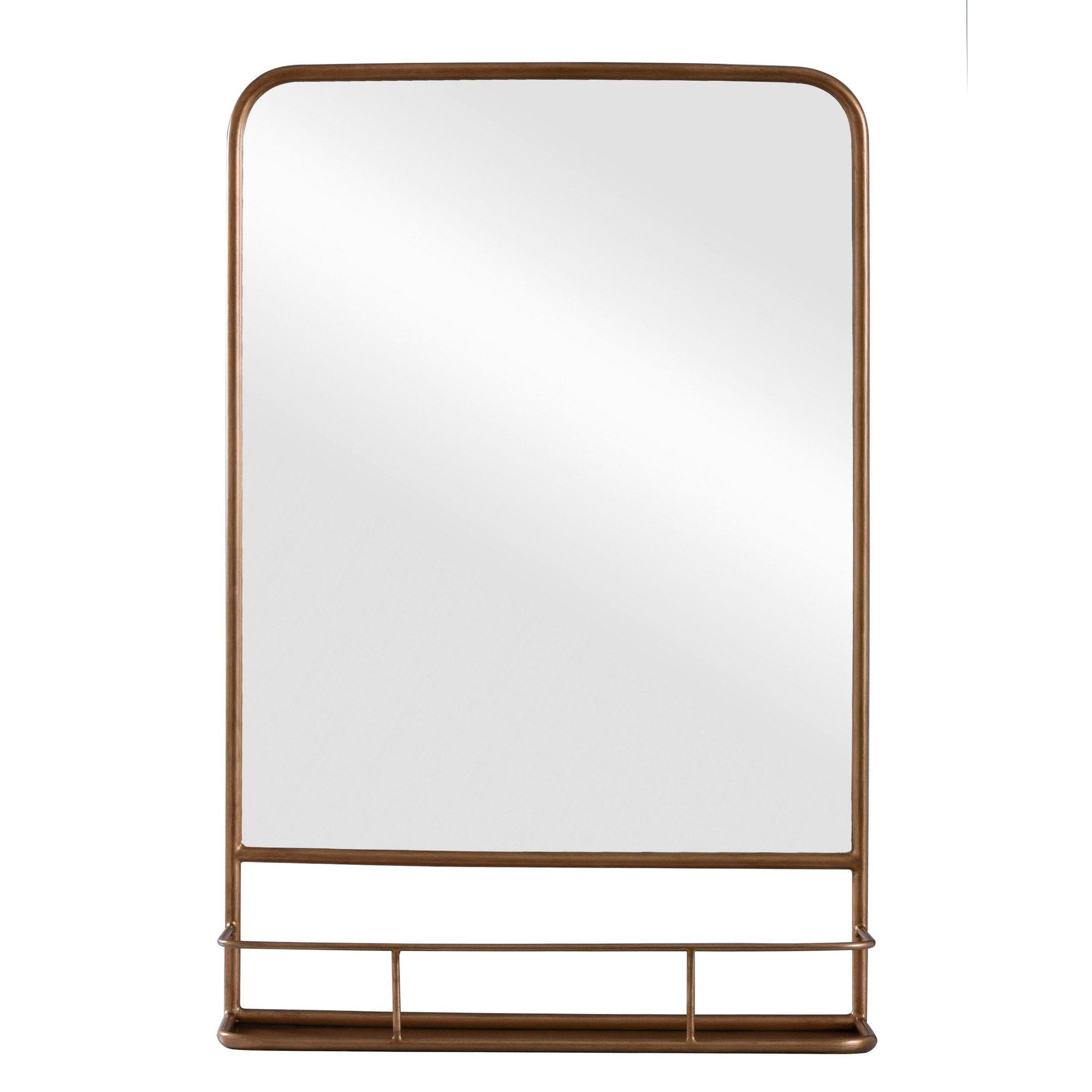 20 X 30 Pharmacy Mirror With Metal Shelf Powder Coated Mirror Brass Threshold Metal Shelves Bathroom Mirror With Shelf Mirror With Shelf