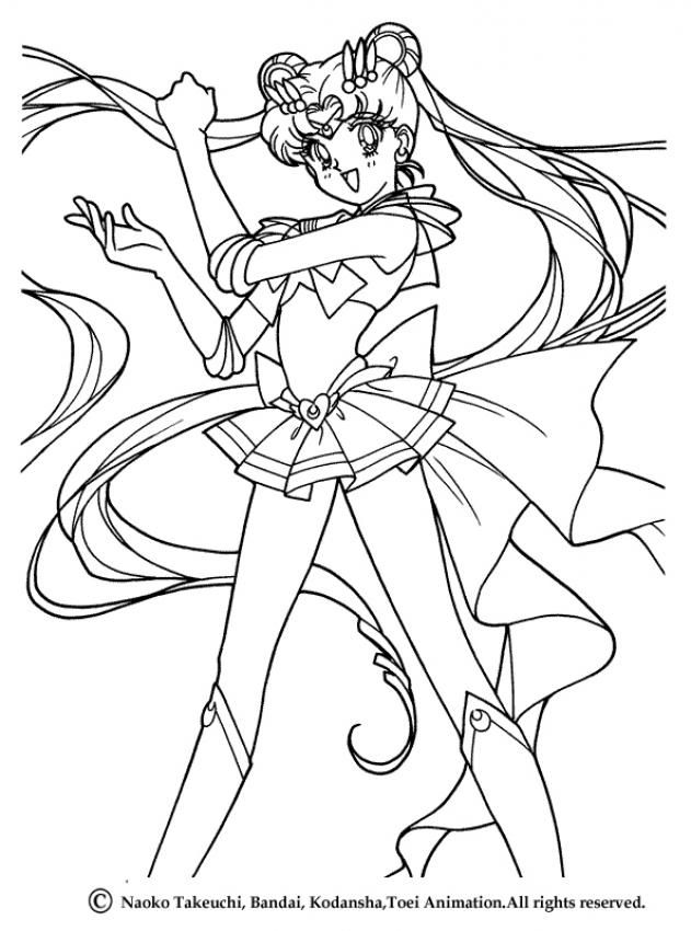 Sailor Moon Coloring Page More Manga Sheets On Hellokids