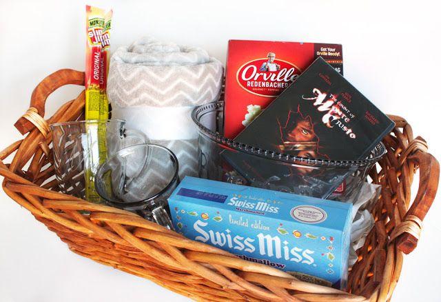 Hot Chocolate and Popcorn Movie Night Gift Basket - Cutesy Crafts