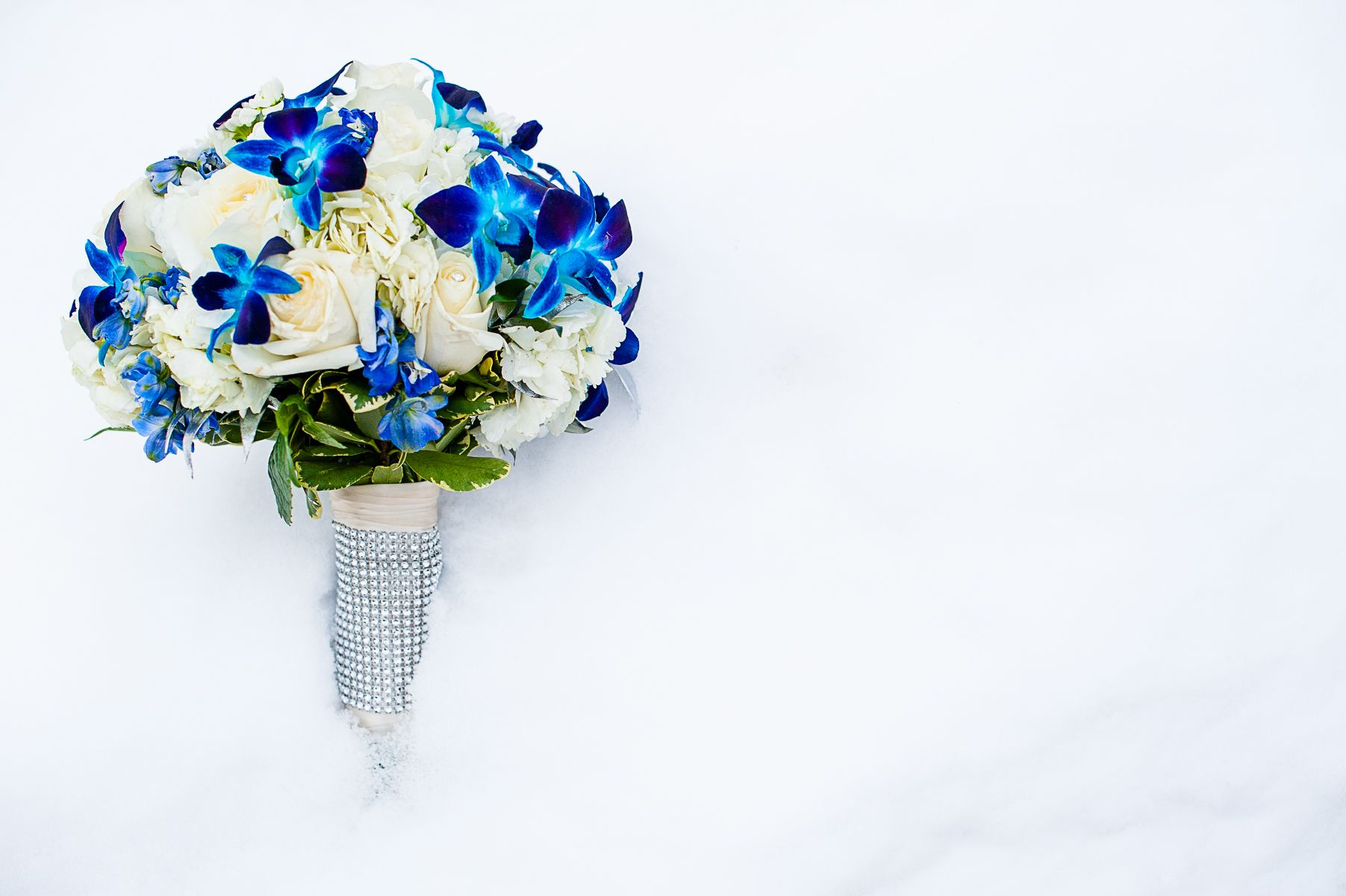 Blue themed Wedding Flowers. Created by Lexington Floral in ...