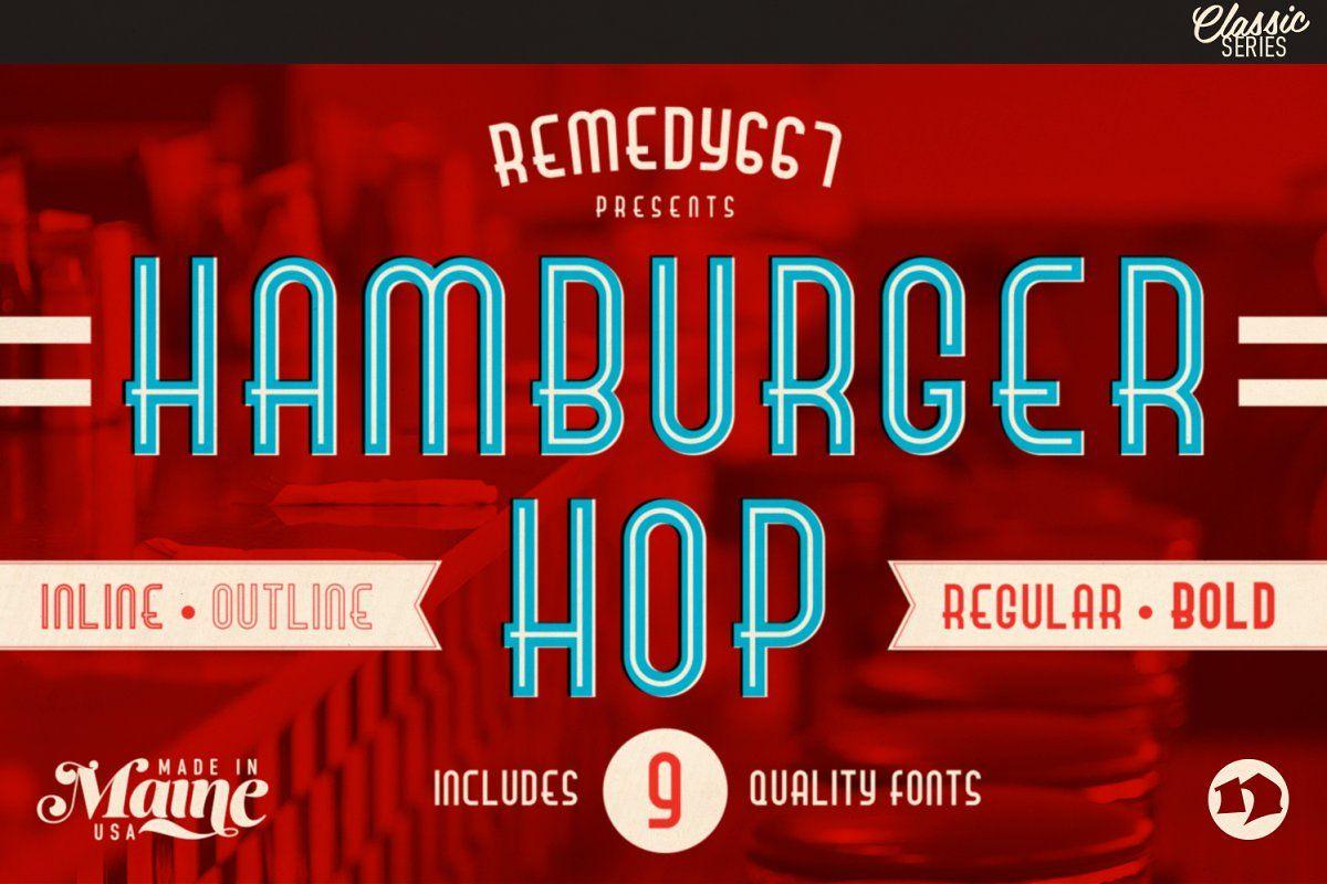 Burger Witch Free Range Typeface Retro Font Classic American Diner Vintage Diner