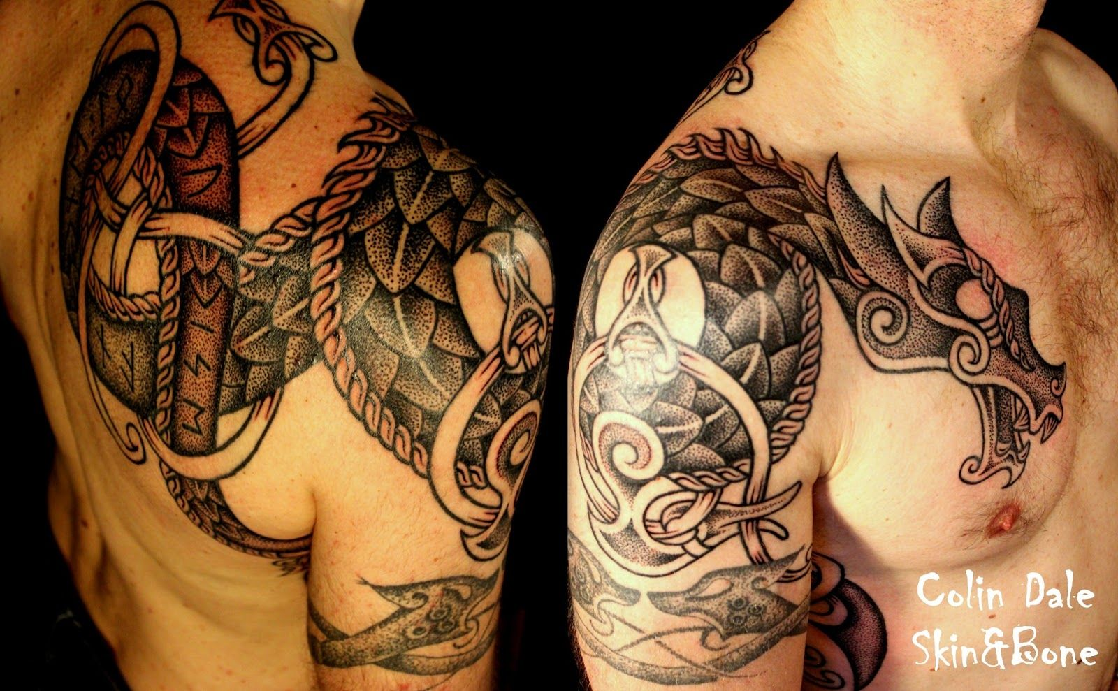 norse dragon with runes 1 next tattoo ideas pinterest tattoo viking tattoos and tattoo. Black Bedroom Furniture Sets. Home Design Ideas