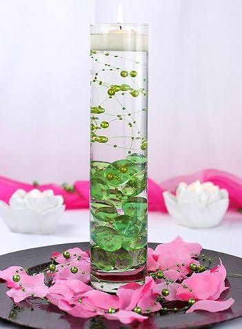 D coration florale de table aussi avec des bougies for Decoration florale table