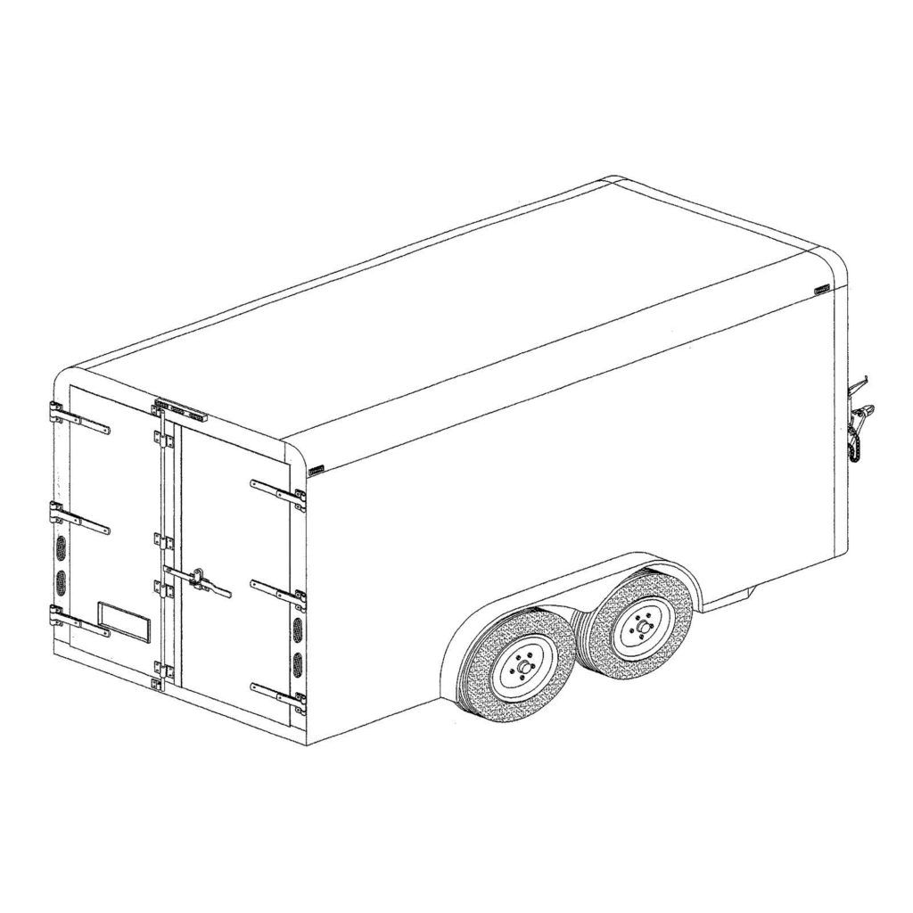 6 x 12 covered cargo trailer plans model 12cc 7 000lb capacity V-Nose Enclosed Trailer Storage Ideas 6 x 12 covered cargo trailer plans blueprints model 12cc master plans design