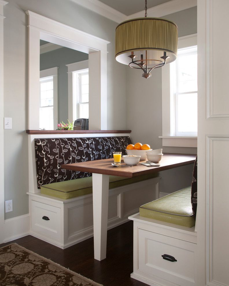 Kitchen Booth Seating Dining Room Transitional With Alcove
