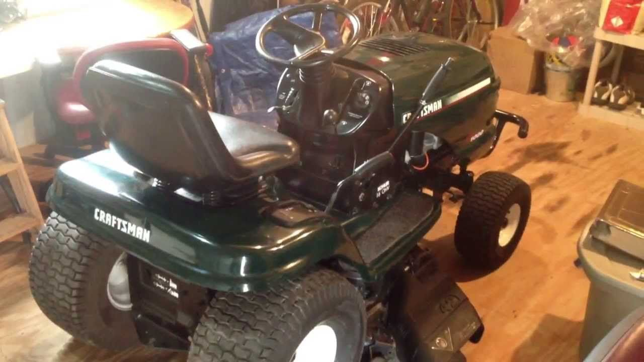 Diy Craigslist Find Mower Repair Craftsman Lt1000 Lawn Tractor For 175 Lawn Tractor Mower Tractors