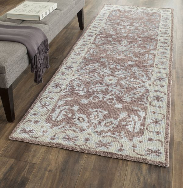 Transitional Stone Wash Rug Hand Knotted In India