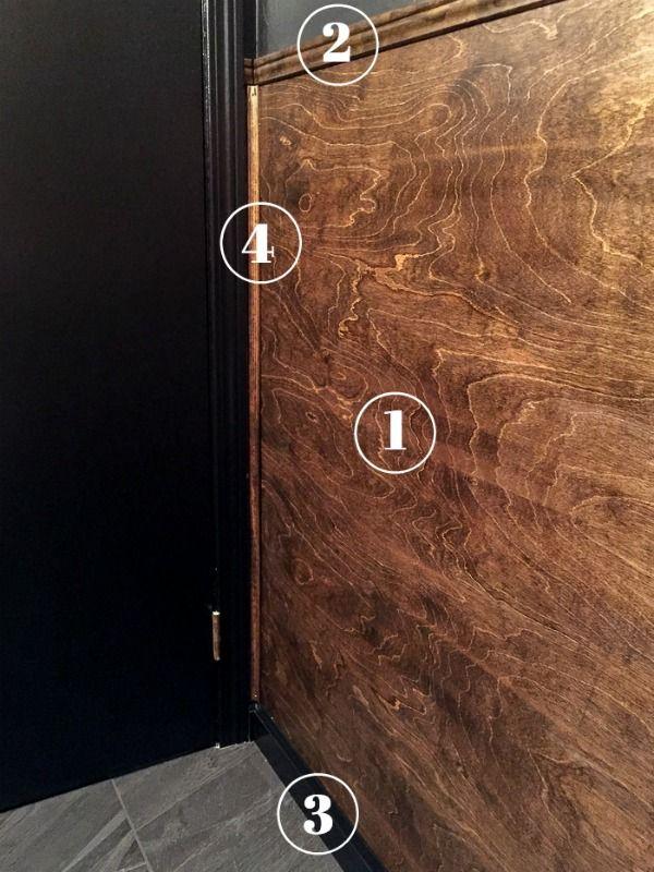 Half Wall Wood Paneling: DIY Wood Panel Wainscoting