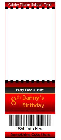 Free Editable Raffle  Movie Ticket Templates  Senior Year
