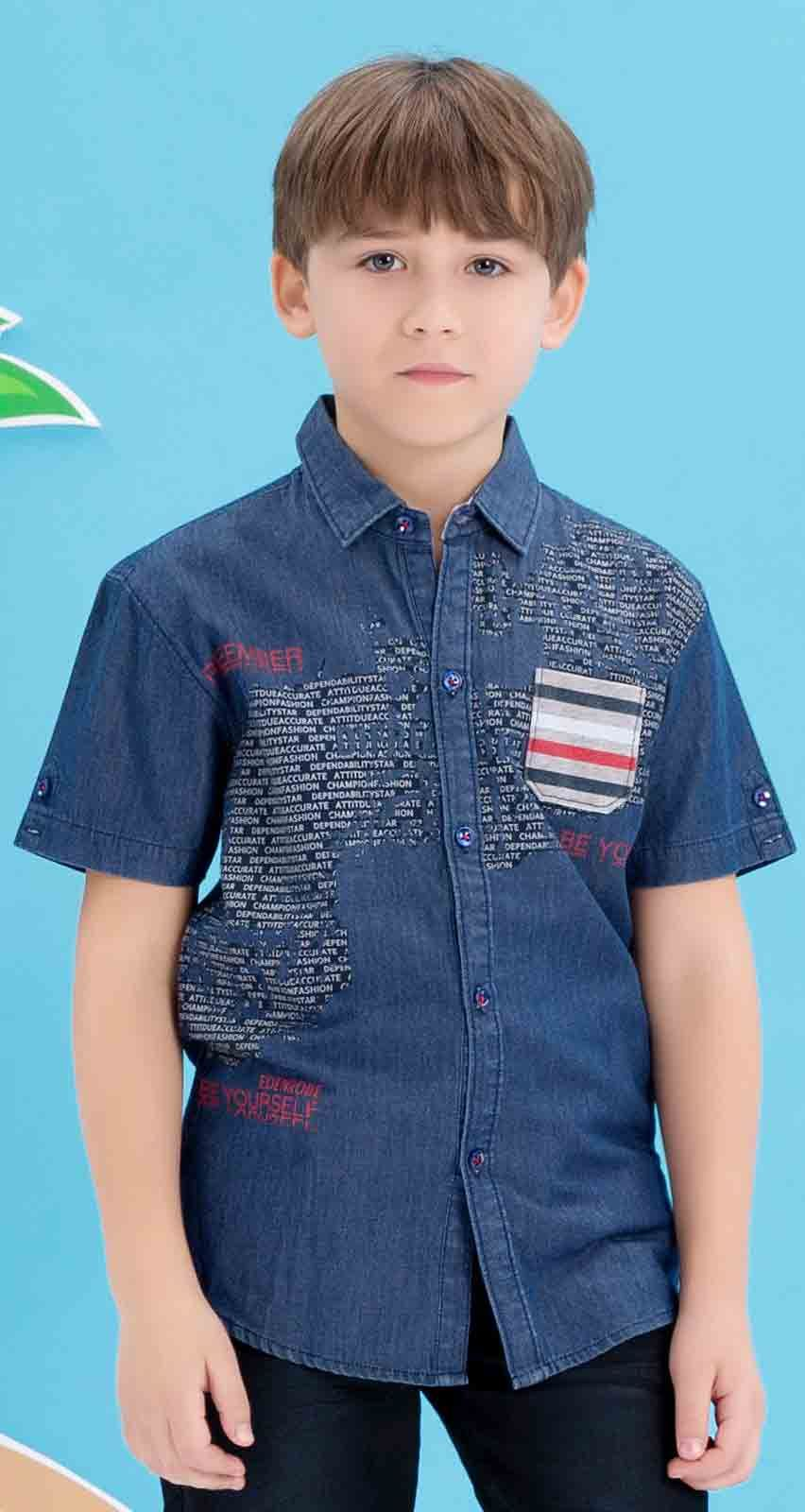 7cb1397a6dc Edenrobe blue shirt with jeans latest eid dresses for little boys in  Pakistan 2017