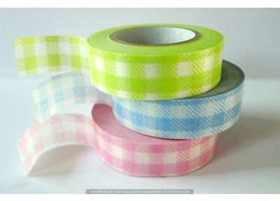 Craft Decorative Tape Green Square Pattern Washi Tape