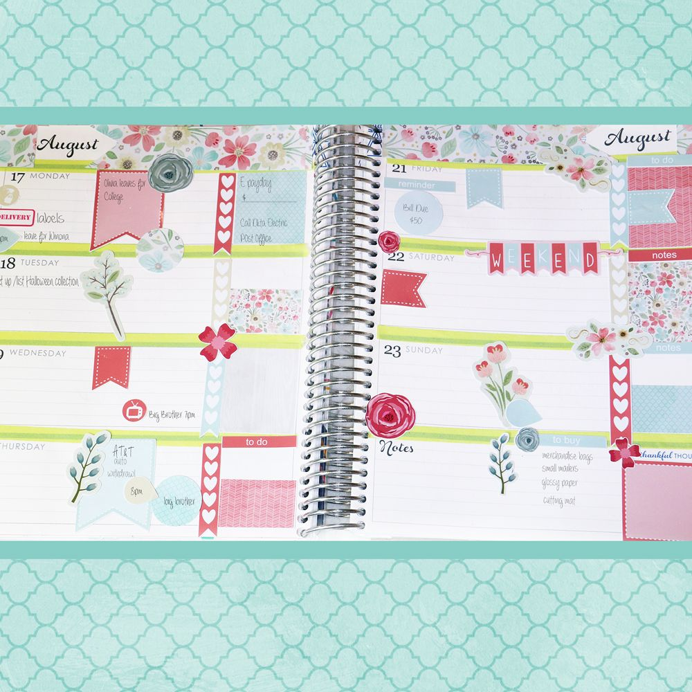 Shows Other Pages With Freebies. Horizontal-Planner-Aug