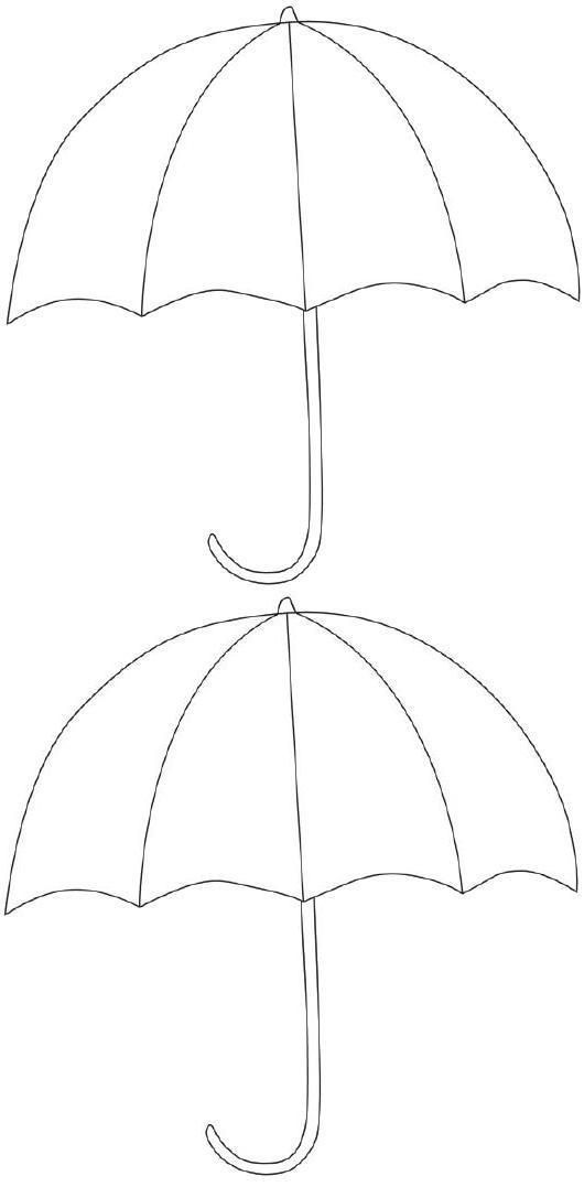 Free Printable Umbrella Template  Alfabet    Free