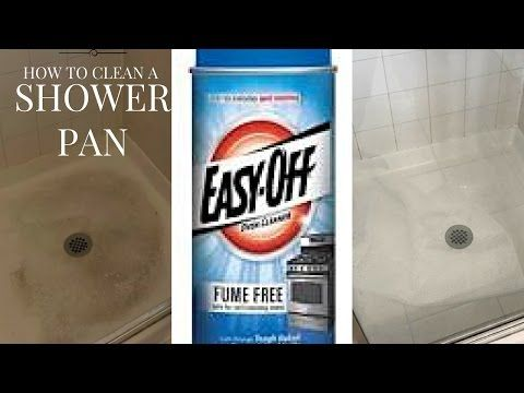 How To Clean A Shower Pan | Easy Off Oven Cleaner   YouTube