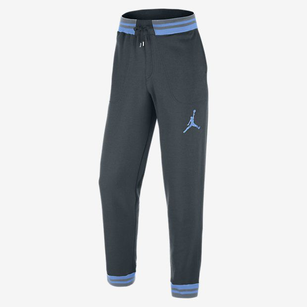619705-008 Jordan Varsity Jogger Cuffed Sweatpants Grey/Columbia Legend  Blue M
