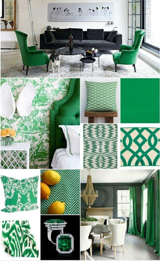 groen interieur live in color pinterest vert vert emeraude and couleur. Black Bedroom Furniture Sets. Home Design Ideas
