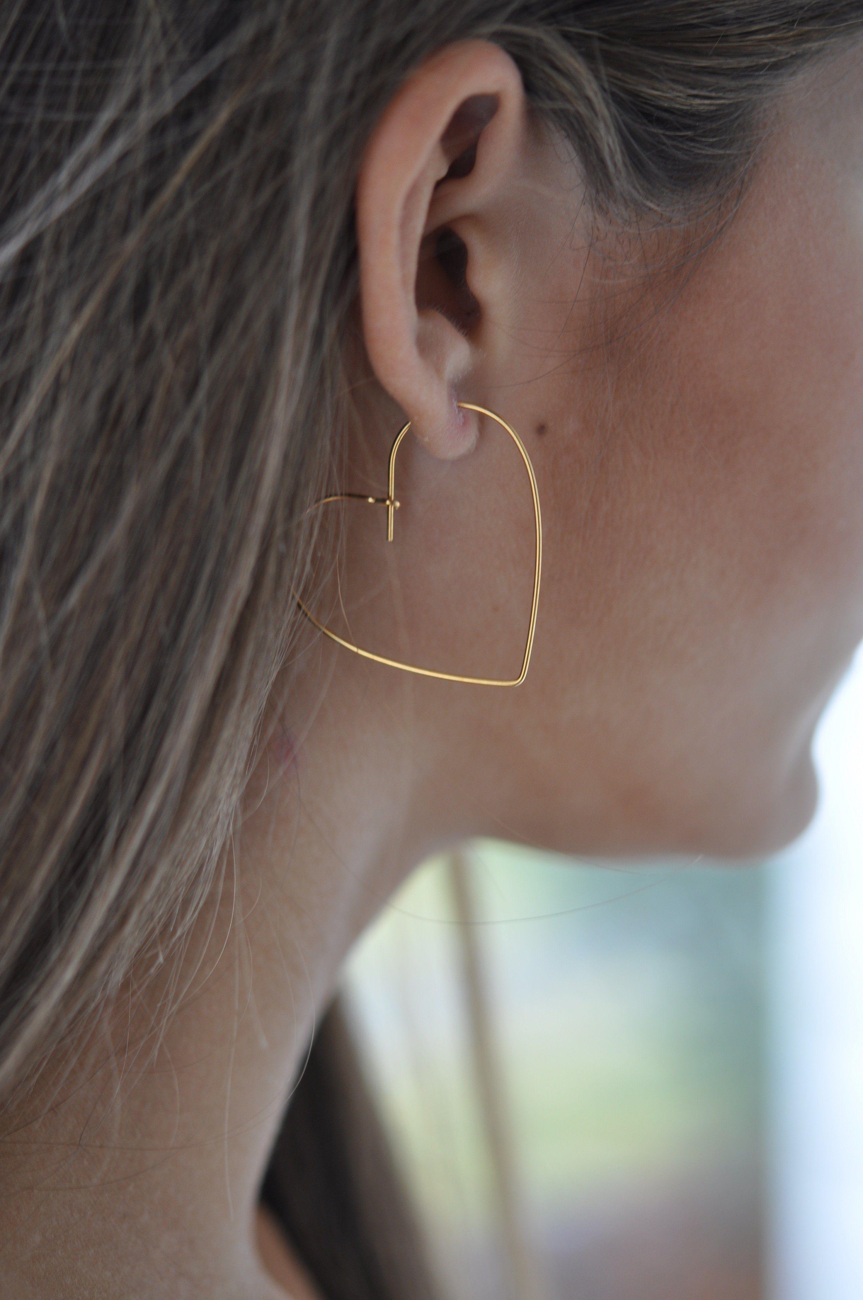 Heart shaped hoop earrings jewlery pinterest earrings jewelry