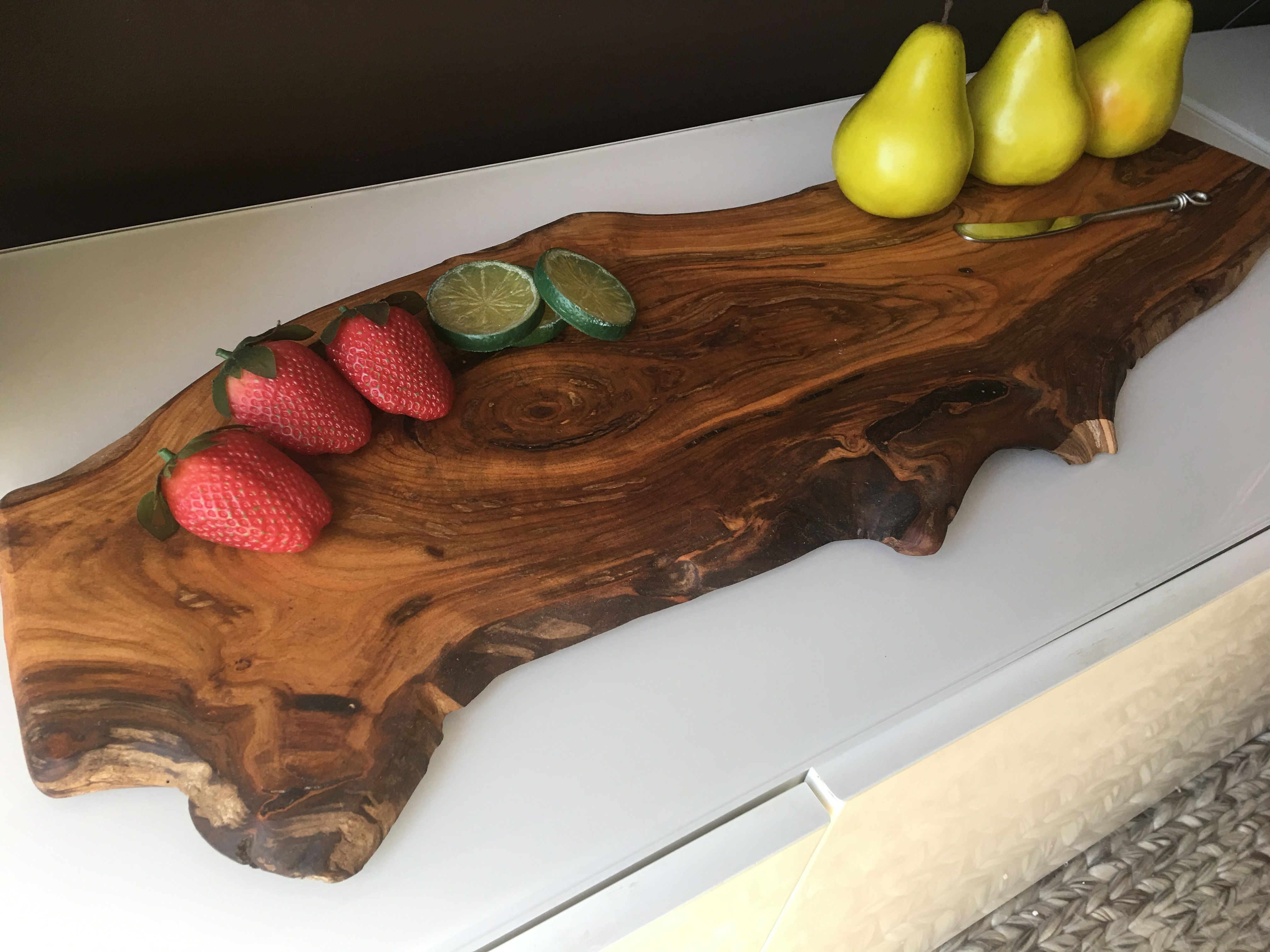 Make your cheese plate simply stunning diy wood slice cutting board - Live Edge Cherry Cutting Board Charcuterie Board Cherry Cheese Serving Board