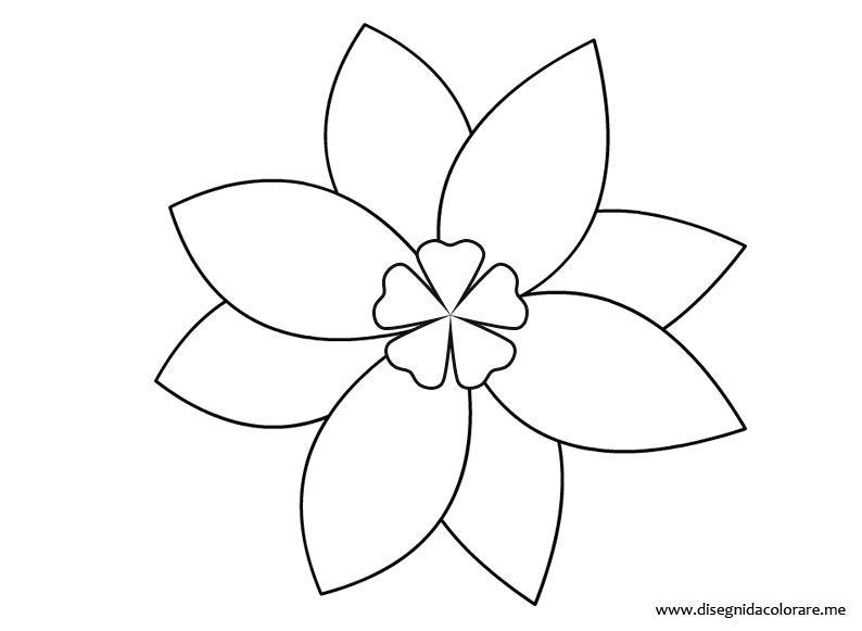 Disegno Fiori Da Colorare Con Google Disegno Di Un Fiore: Fiori Disegni Stilizzati - Cerca Con Google