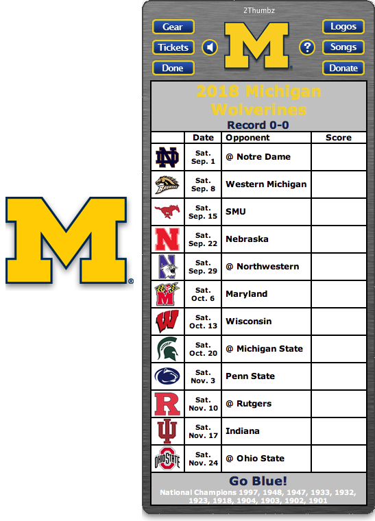 Get your 2018 Michigan Wolverines Football Schedule