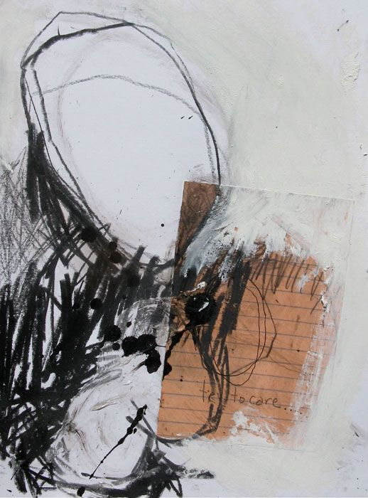 building hope 3 • 12w x 15.5h • mixed media on paper • 2012