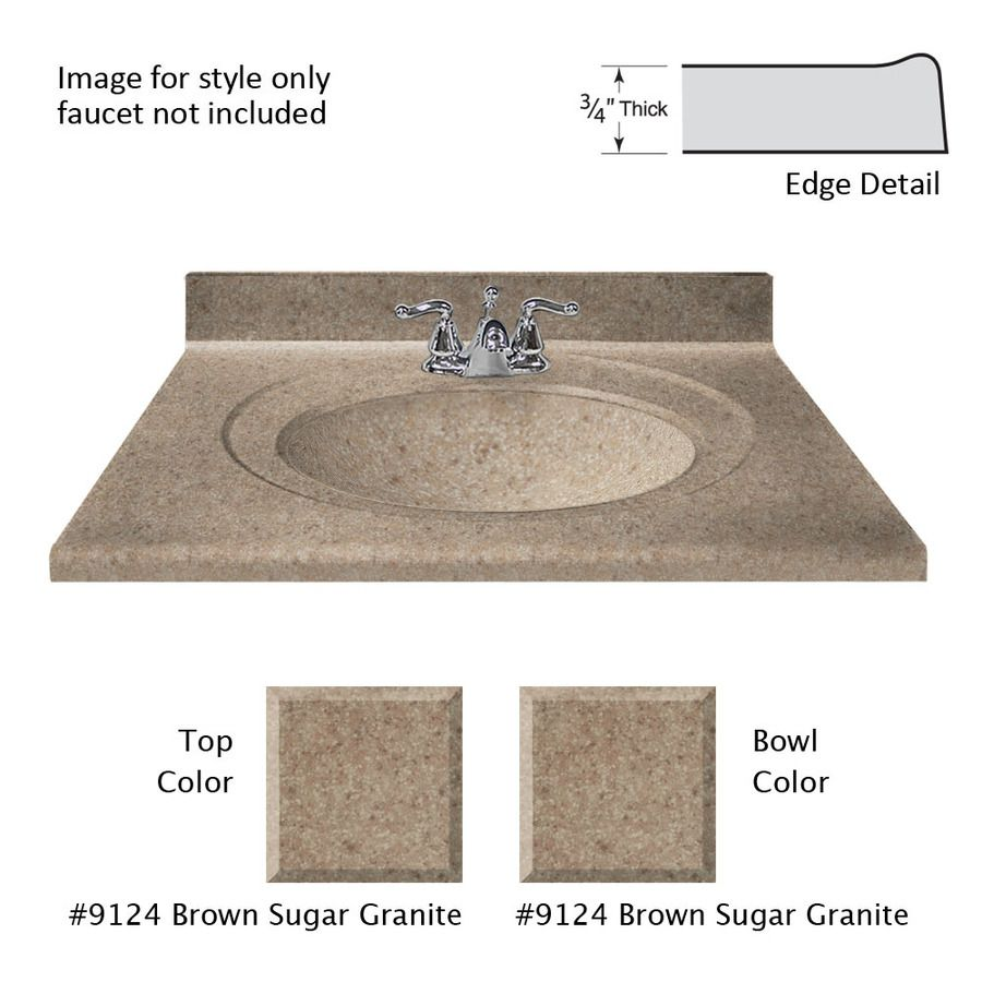 Shop US Marble Recessed Oval Standard Brown Sugar Cultured Marble - Bathroom vanity tops 43 x 22 for bathroom decor ideas
