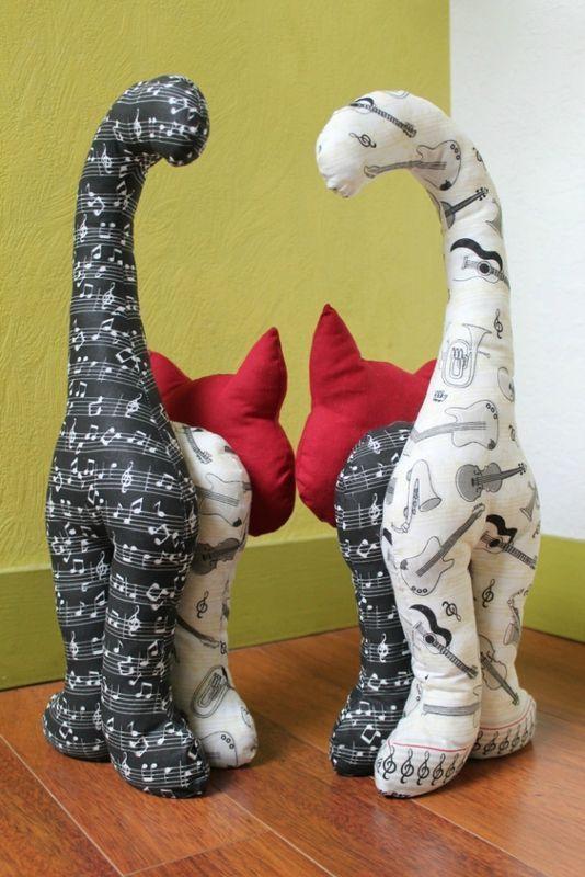 les chatons, le tuto - L'atelier de Dan - Her Crochet #animauxentissu