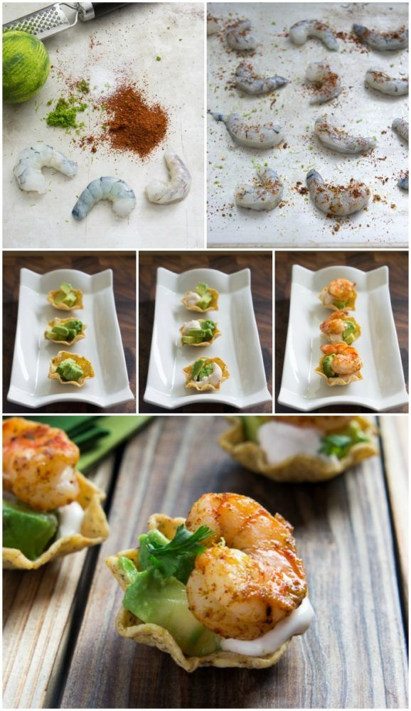 Shrimp taco bites recipe housewarming party ideas pinterest tacos appetizers and food also rh