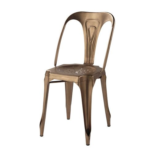 Chaise Indus En Metal Cuivre 110 Maison Du Monde 6 Chaises Table A