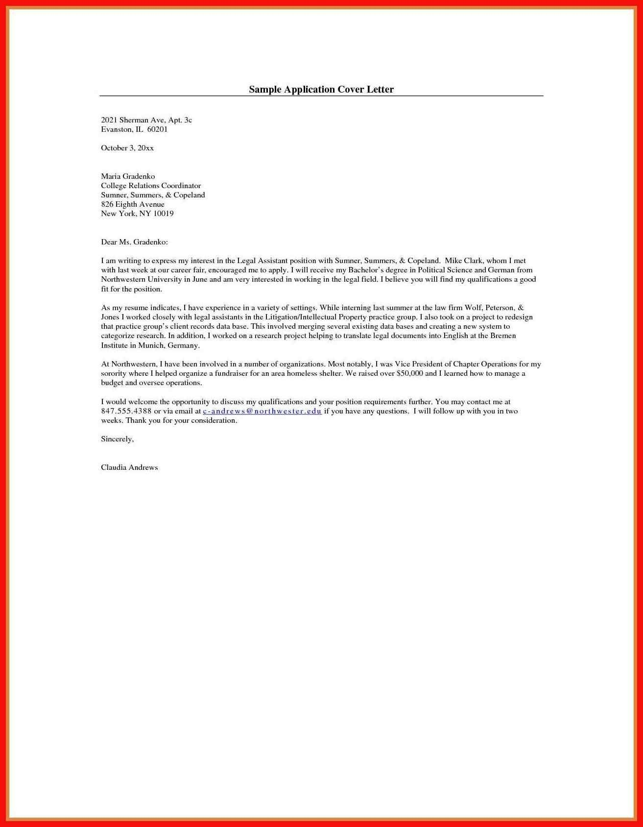 26 Cover Letter Template For Job Application Writing A Cover