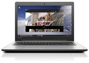 Lenovo ideapad 310 15.6-Inch Notebook (Silver) - (Intel Core i3-6100U 2.3 GHz, 8 GB RAM, 1 TB HDD, Windows 10)