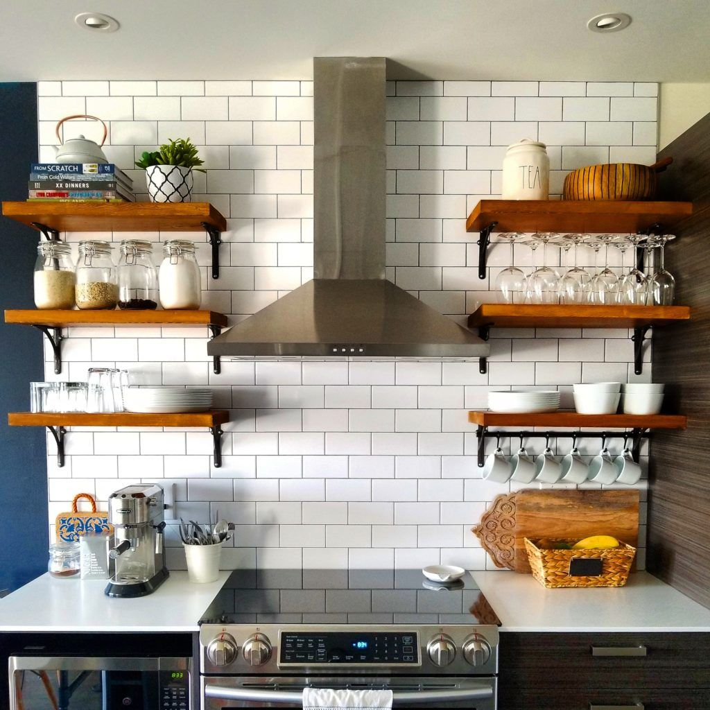 Open Kitchen Shelving How to Build and Mount Kitchen