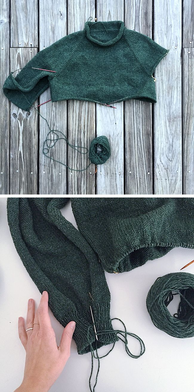 How And Why To Knit Top Down Sleeves Flat Crocheted And Knitted