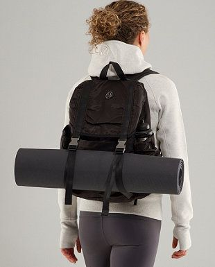 Lululemon Wanderlust Rucksack W Stowable Raincover And Waist Strap Workout Bags Small Workout Bag Lululemon Backpack