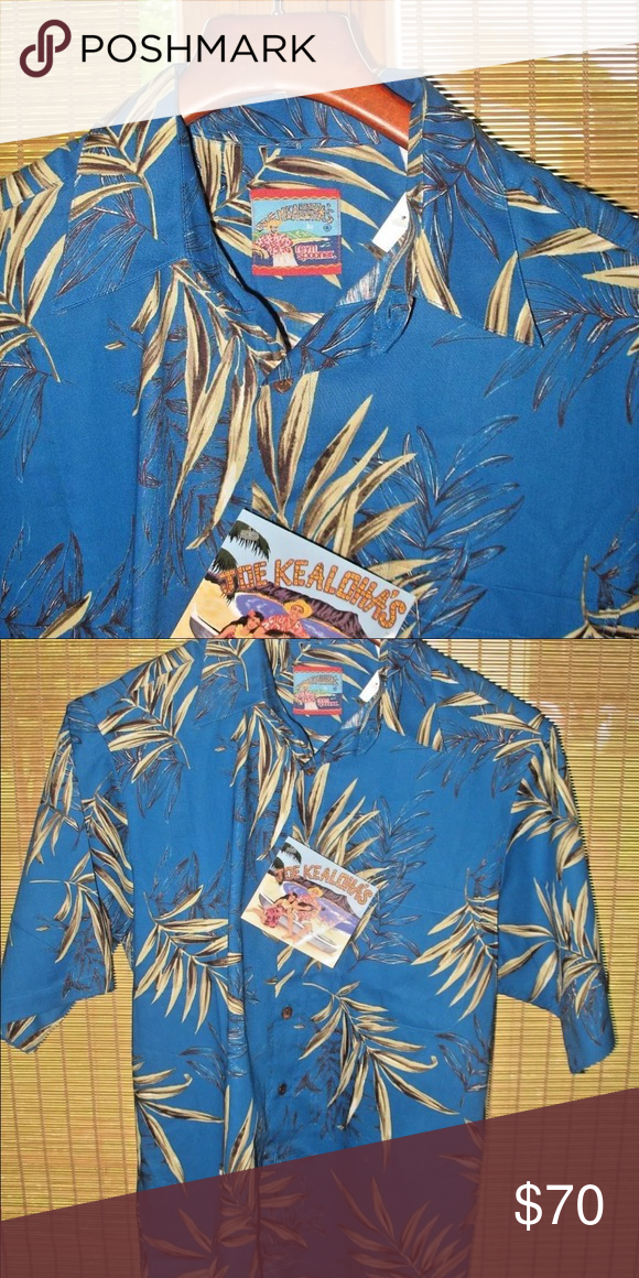 dec9d960 NWT JOE KEALOHA'S REYN SPOONER Sz S Hawaiian Shirt New with Tags 100%  Cotton Please Check Measurements to ensure a proper fit as they do vary.