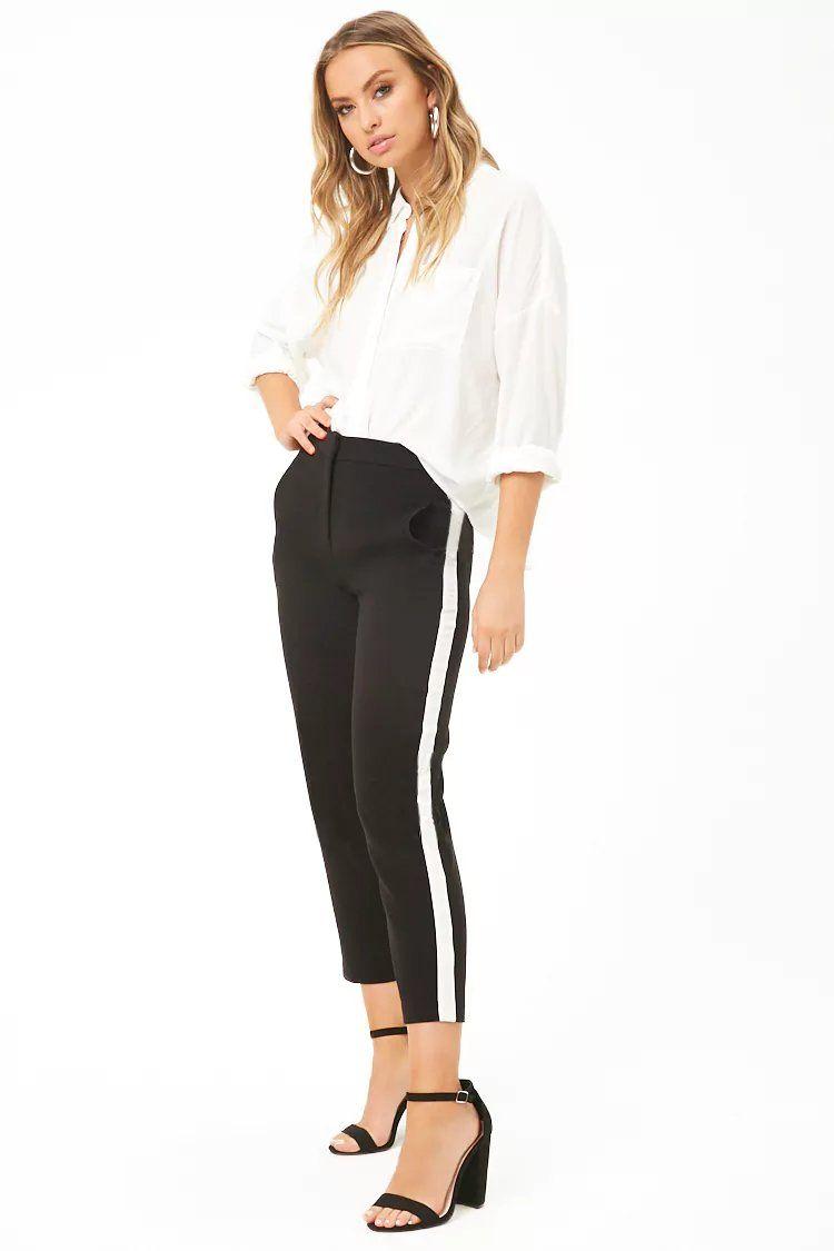 e58e47c8f9b Product Name Contrast Stripe Ankle Pants