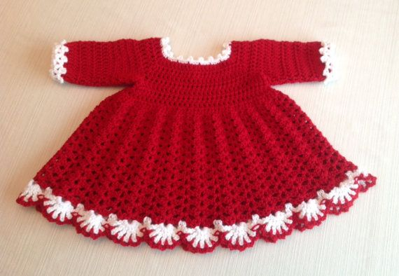 1c7181376 Crochet Baby Dress PATTERN 9 TO 12 Mth by JeansNeedles on Etsy ...