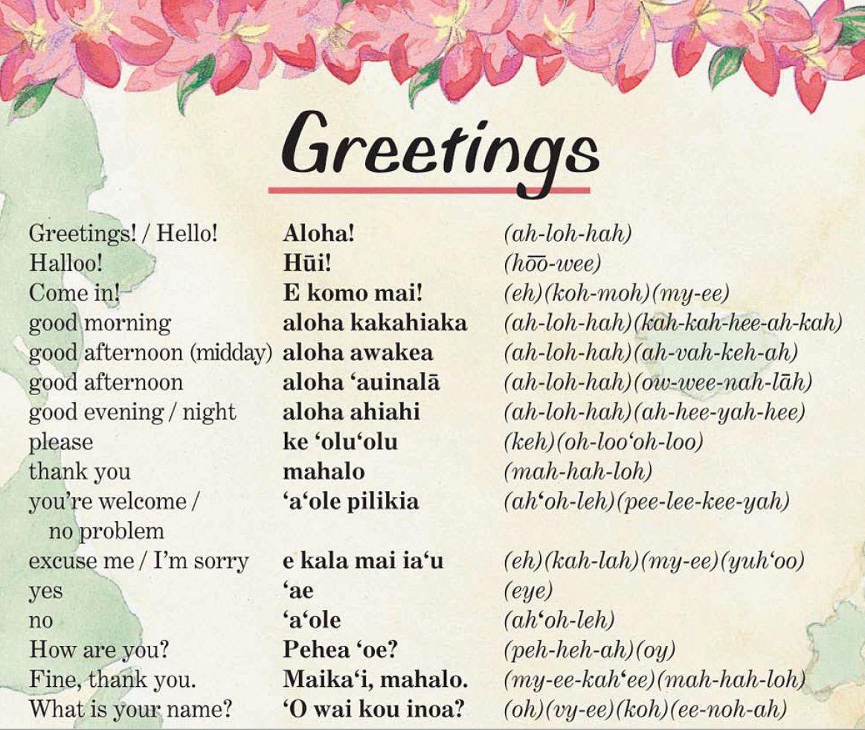 Hawaiian Language Worksheets