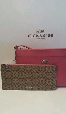 81dd7cf1878257 New Coach Crossgrain Leather East/West Pop Crossbody purse Shoulder Bag  F52881