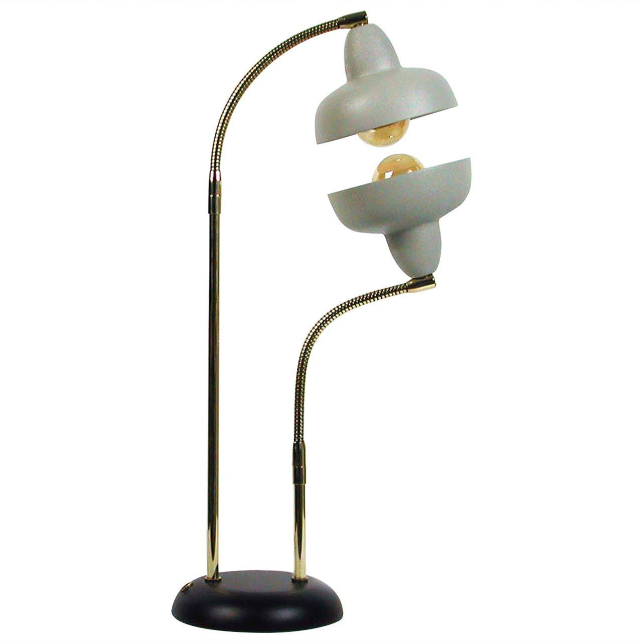 Italian Double Gooseneck Floor Lamp