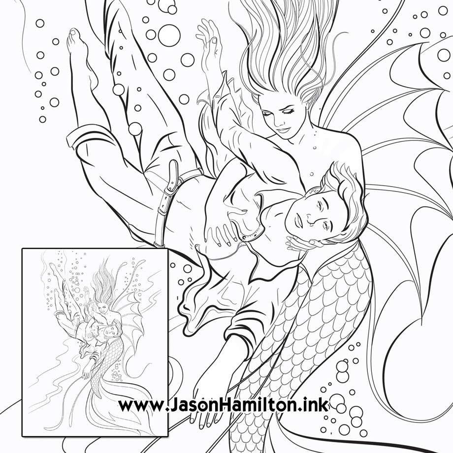 Mermaid Saves Drowning Prince (PDF instant download