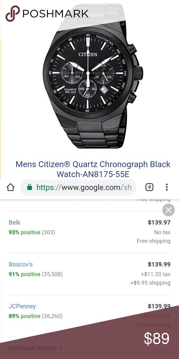 ⌚Mens Citizen® Quartz Chronograph Black Watch⌚ NWT in 2018 | Smart Casual  Outfits | Pinterest | Watches, Fashion and Chronograph