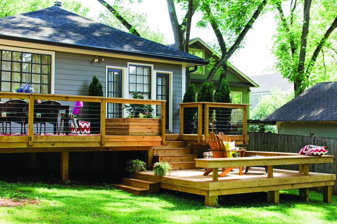 10 Beautiful Easy Diy Backyard Decks Patio Deck Designs