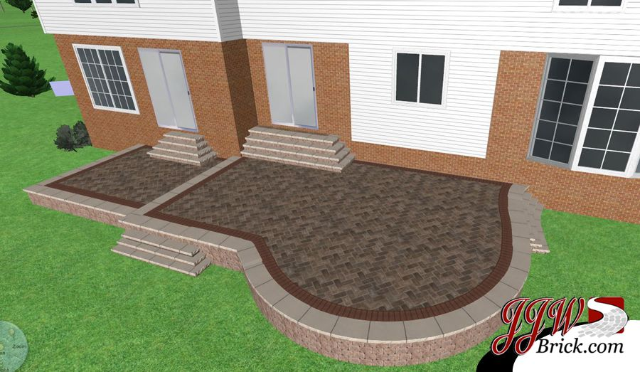 3d Landscaping Patio Design For Home In Rochester Hills Mi