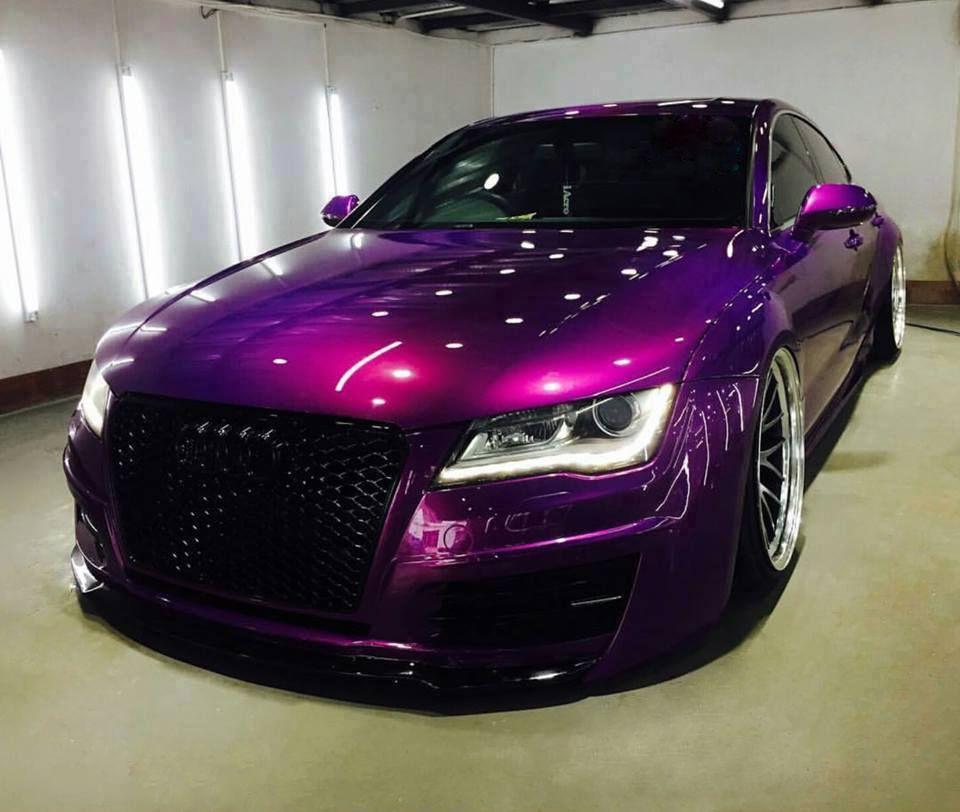 Audi A7 Deep Metallic Purple Luxury Cars Audi A7 Audi Cars