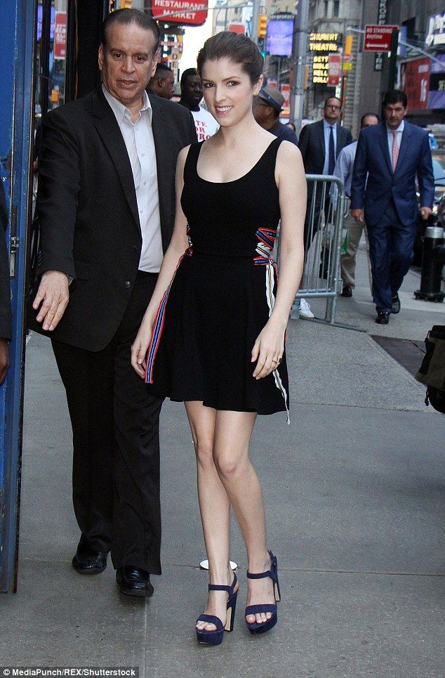 Anna kendrick leaves pajamas at home and opts for black dress at gma anna kendrick leaves pajamas at home and opts for black dress at gma voltagebd Images